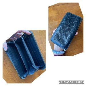 Gucci Guccissima zippy wallet